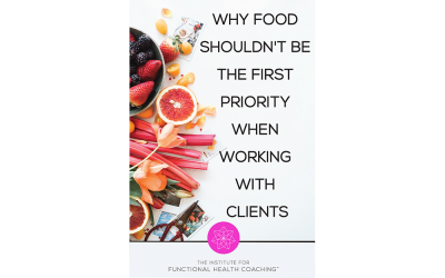 Why Food Shouldn't Be the First Priority When Working with Clients